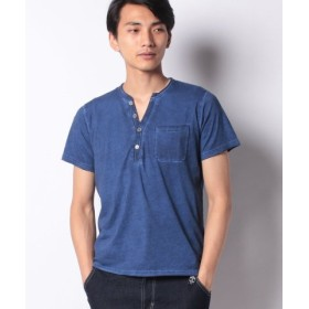 (LiFESiZE/LiFESiZE)コールドダイ加工 ヘンリーネック Tシャツ/メンズ インクブルー