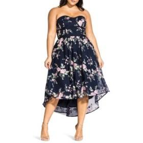シティーシック レディース ワンピース トップス City Chic Aphrodite Strapless Dress (Plus Size) Black