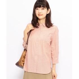 DECOY Since1981 ストライプシャツ(オレンジ)【返品不可商品】