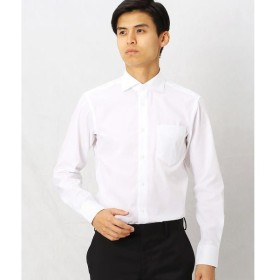 COMME CA MEN / コムサ・メン 形態安定ホワイトドビードレスシャツ