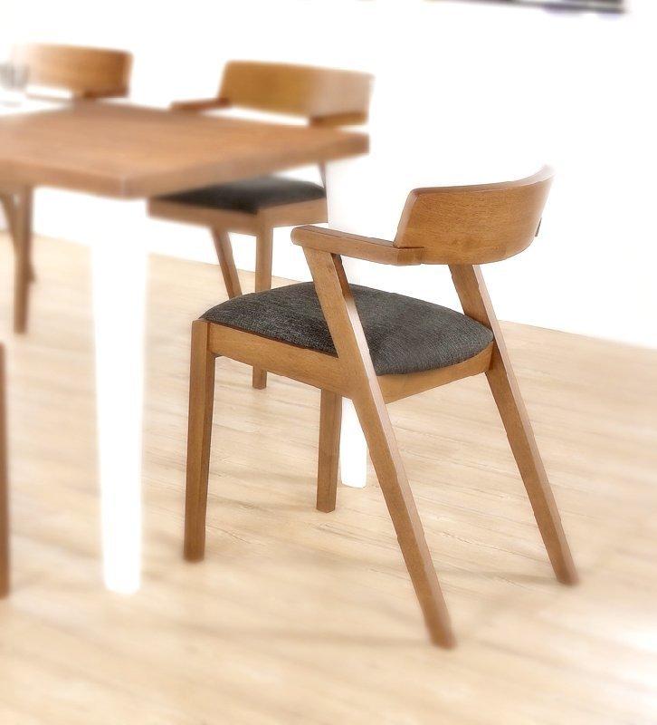 馬來西亞進口 橡膠木 胡桃色 餐椅 餐桌 維納斯 設計師款 非 H&D ikea 宜家 !新生活家具! 樂天雙12