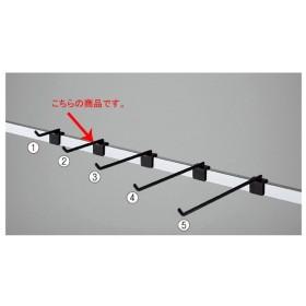【まとめ買い10個セット品】角バーフック(φ6mm)L10cm10本組 ブラック