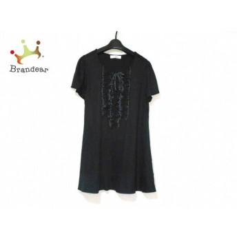 ギャラリービスコンティ ワンピース サイズ2 M レディース 美品 黒×白 リボン/フリル/ドット柄 新着 20190626