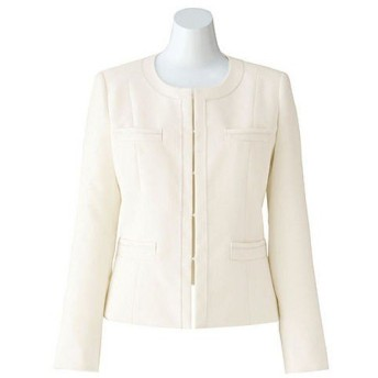 ボンマックス BONOFFICE ジャケット ホワイト 13号 BCJ0107-15 1着(直送品)