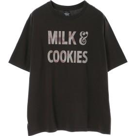 NUMBER (N)INE 【NUMBER (N)INE】MILK & COOKIES_T-SHIRT Tシャツ・カットソー,CHARCOAL