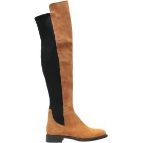 《セール開催中》LEONARDO PRINCIPI レディース ブーツ タン 35 牛革(カーフ) 80% / ポリウレタン 20%