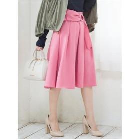 MERCURYDUO ツイルウエストリボンスカート(ピンク)