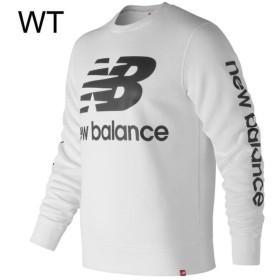 f87307cd086e3 セール new balance/ニューバランス ランニングウェア メンズ NBロゴクルーシャツ スウェットシャツ SWS 2018FW
