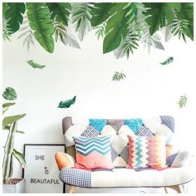 ウォールステッカー 壁装飾 ステッカー 緑 葉っぱ 植物 南国 シンプル 癒し リビング 寝室