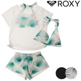 SALE セール レディース ホルター 水着 ビキニ ROXY ロキシー RSW191010 半袖Tシャツ ショートパンツ付き 4点セット GX1 F22