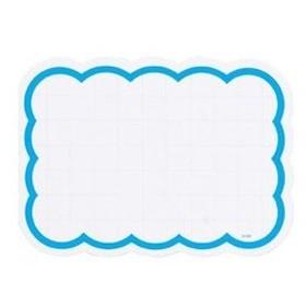 抜型ショーカード 雲型 ブルー 小 50枚