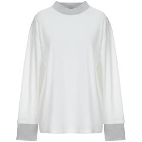 《期間限定セール開催中!》FABIANA FILIPPI レディース T シャツ ホワイト 46 コットン 93% / ポリウレタン 7% / ウール / ナイロン / ポリエステル