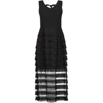 《セール開催中》SILVIAN HEACH レディース 7分丈ワンピース・ドレス ブラック M ポリエステル 100%