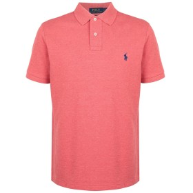 《セール開催中》POLO RALPH LAUREN メンズ ポロシャツ コーラル S コットン 100% Custom Slim Fit Mesh Polo
