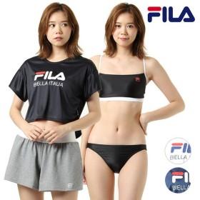 レディース フィットネス 水着 FILA フィラ 229704 半袖Tシャツ ショートパンツ付き 4点セット GX1 F25