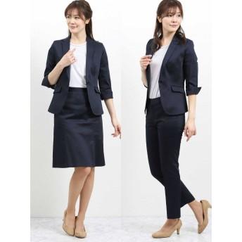 セットアップ - TAKA-Q TAKA-Q/ladies:ストレッチ3ピーススーツ(1釦7分袖テーラージャケット+Aラインスカート+テーパードパンツ)