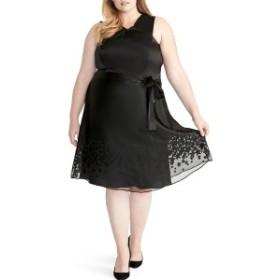 ライチェルレイチェルロイ レディース ワンピース トップス RACHEL Rachel Roy Ophelia Print Dress (Plus Size) Black Combo