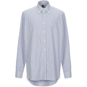 《期間限定セール開催中!》BAGUTTA メンズ シャツ ダークブルー 45 コットン 100%