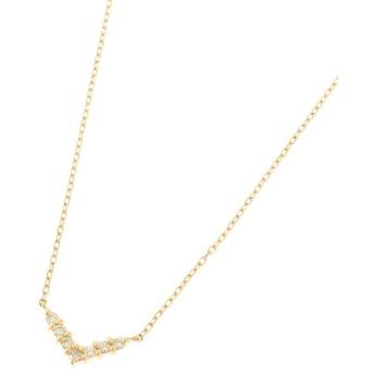 COCOSHNIK(ココシュニック) K18ダイヤモンド Vネックレス