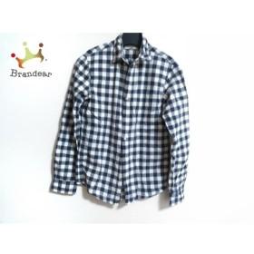 ラルフローレンデニム&サプライ 長袖シャツ サイズXS メンズ アイボリー×ネイビー チェック柄   スペシャル特価 20190917