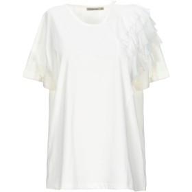 《期間限定セール開催中!》PATRIZIA PEPE レディース T シャツ ホワイト 1 コットン 100%