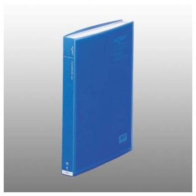 リヒトラブ リクエスト 透明クリヤーブック A4判タテ型 60ポケット(ブルー)
