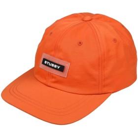 《セール開催中》STUSSY メンズ 帽子 オレンジ one size ナイロン 100%