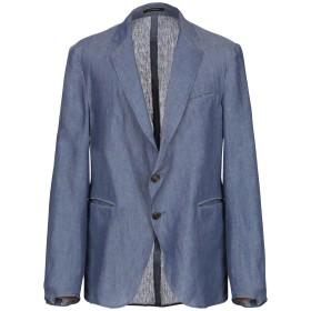 《期間限定セール開催中!》EMPORIO ARMANI メンズ テーラードジャケット ブルーグレー 48 麻 100%