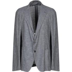 《セール開催中》PINO LERARIO 02-05 メンズ テーラードジャケット ブルー 62 レーヨン 45% / コットン 39% / ナイロン 15% / ポリウレタン 1%
