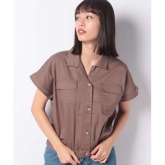 【60%OFF】 レトロガール ツイルWポケシャツ レディース ダークブラウン M 【RETRO GIRL】 【セール開催中】