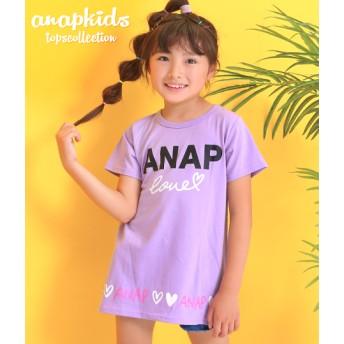 【セール開催中】ANAP KIDS(キッズ)ラメプリントチュニック