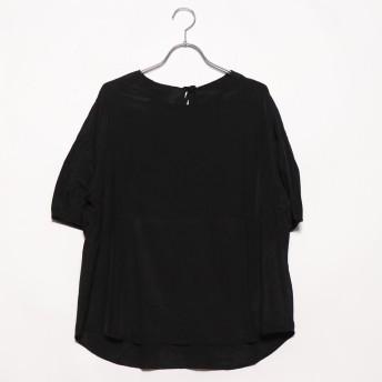 スタイルブロック STYLEBLOCK バックリボン半袖プルオーバー (ブラック)