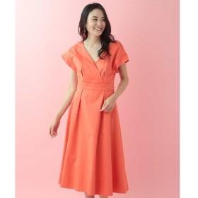 TARA JARMON / タラジャーモン フロントクロス&バックオープンドレス