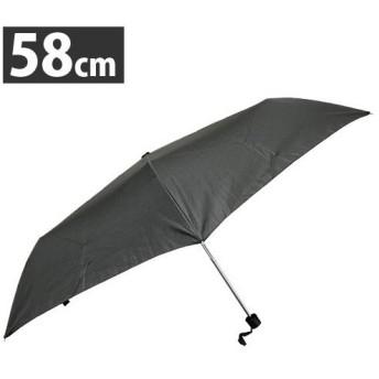 防風 手開き 紳士 折り畳み傘 58cm 黒 超撥水加工 耐風骨