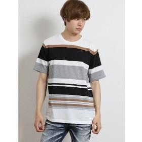 [マルイ]【セール】パネルボーダー クルーネック半袖Tシャツ/セマンティックデザイン(semantic design)