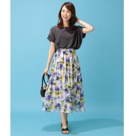 any FAM / エニィファム 【洗える・親子連動】フラワープリント スカート
