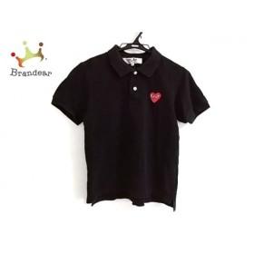 プレイコムデギャルソン PLAY COMMEdesGARCONS 半袖ポロシャツ サイズM レディース 黒×レッド  値下げ 20190928