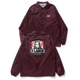 【XLARGE:アウター】【XLARGE×X-girl】 OG BOX FACE COACHES JACKET