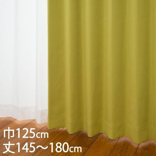 カーテン 遮光カーテン | カーテン ドレープ ライトグリーン 形状記憶 遮光1級 ウォッシャブル 防炎 遮熱 巾125×丈145〜180cm DP416 KEYUCA ケユカ