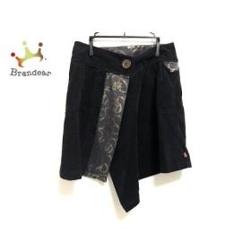 クリスチャンラクロワ 巻きスカート サイズ38 M レディース 美品 黒×ゴールド×ダークグレー   スペシャル特価 20190922