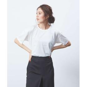 カリテ スーピマコットンベーシックTシャツ レディース オフホワイト F 【qualite】