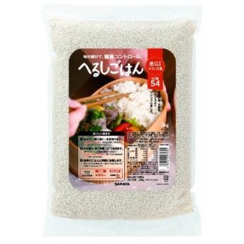 Tポイント8倍相当 【☆】サラヤ株式会社 低GI米 へるしごはん生米タイプ 大麦入り 3kg入 <美味しく楽しく適正糖質、ロカボ商品>