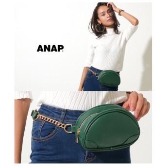ANAP チェーンポーチ型ボディバッグ(モスグリーン)