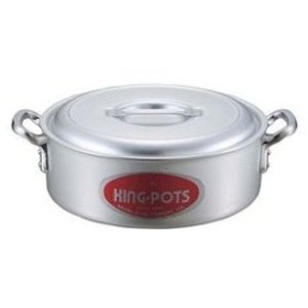 キングアルマイト 外輪鍋(目盛付)21cm【 ガス専用鍋 】