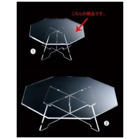 【まとめ買い10個セット品】八角卓上アクリルDP透明 小