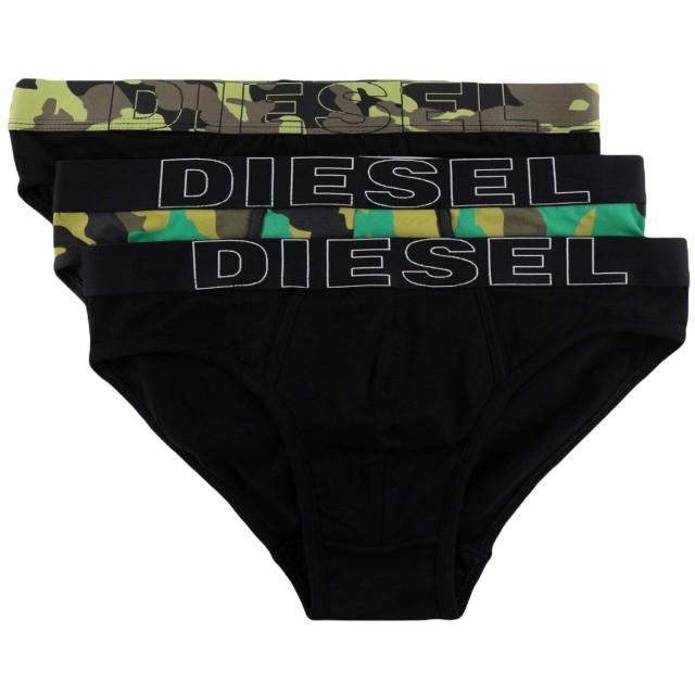 《セール開催中》DIESEL メンズ ショーツ&ブリーフ ブラック M コットン 95% / ポリウレタン 5% / ナイロン / ポリエステル