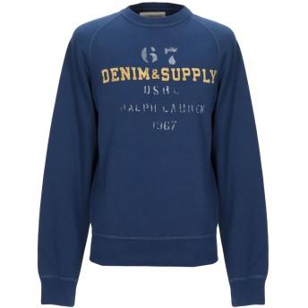 《9/20まで! 限定セール開催中》DENIM & SUPPLY RALPH LAUREN メンズ スウェットシャツ ブルー S コットン 80% / ポリエステル 20%