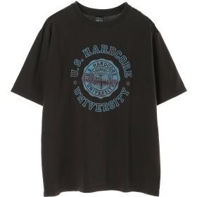 NUMBER (N)INE 【NUMBER (N)INE】U.S.HARD CORE_T-SHIRT Tシャツ・カットソー,CHARCOAL/BLUE