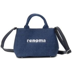 レノマ renoma ハンドバッグ 1505001-0015 キャンバス 2WAYバッグ デニム