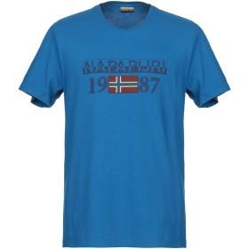 《期間限定セール開催中!》NAPAPIJRI メンズ T シャツ ブルー L コットン 100%